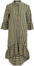 VILA Striped, 3/4 Sleeve Dress Women Green