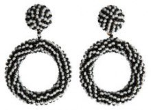 PIECES Pearl Earrings Women Black