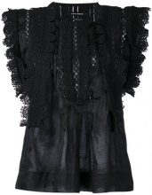 Isabel Marant - Top in pizzo 'Nandy' - women - Cotton - 38 - BLACK