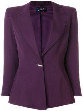 Claude Montana Vintage - Blazer con bottone a spilla - women - Cupro/Wool - S - PINK & PURPLE