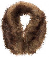 New Look Fox Fur Collar, Stola Donna, Marrone, Unica