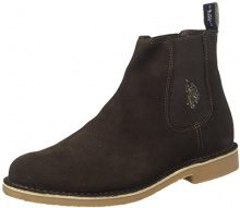 U.S. Polo Assn. Faust5, Stivali Chelsea Uomo, Marrone (Dark Brown), 45 EU