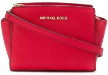 Michael Michael Kors - logo cross body bag - women - Leather - One Size - RED