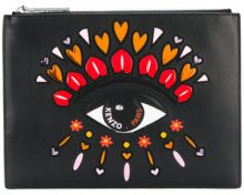 Kenzo - Valentine's Day Capsule Eye clutch - women - Cotton/Leather/Nylon/Polyurethane - One Size - BLACK