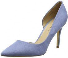New Look Slide, Scarpe Col Tacco Punta Chiusa Donna, Blu (Light Blue), 38 EU
