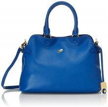 Piero Guidi Magic Circus Classic Leather Borsa a Mano, 33 cm, Blu Cobalto