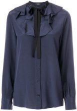 Joseph - Blusa con collo con fiocco - women - Silk/Rayon - 38 - BLUE