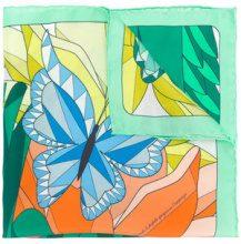 Cha•Val Milano - Foulard con motivo geometrico - women - Silk - OS - GREEN