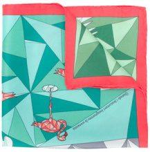 Cha•Val Milano - Fazzoletto stampato - women - Silk - OS - GREEN