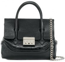 Marc Ellis - Borsa a spalla con tracolla con catena - women - Leather - OS - BLACK