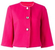 Ermanno Scervino - cropped jacket - women - Cotone/Polyester - 42 - PINK & PURPLE