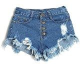 Minetom Donne Jeans Vita Bassa Estate Buco Hot Pants Pantaloncini Denim