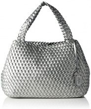 Buffalo Bag 16bwg-05 Leather Pu, Borse a Tracolla Donna, Argento (Silber (Silver), 14.0x29.0x39.0 Centimeters (B x H x T)