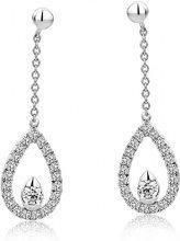 Diamada Orecchini da Donna in Oro Bianco 9K con Diamante