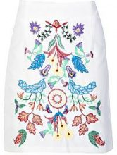 Annalie Embroidered Woven A Line Skirt