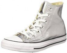 Converse Ctas Hi, Sneaker a Collo Alto Donna, Argento (Gunmetal/White/Black), 42 EU