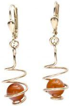 InCollections 1000163301L100 - Orecchini pendenti da donna con ambra, oro giallo 8k (333)