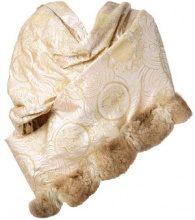Gianfranco Ferre Vintage - Mantella ricamata - women - Silk/Fox Fur/Lurex - OS - PINK & PURPLE