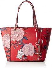Guess Hobo, Borsa a Spalla Donna, Multicolore (Red Floral), 15x26.5x42 cm (W x H x L)