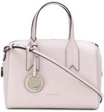 Emporio Armani - charm-detail satchel - women - Polyurethane - OS - PINK & PURPLE