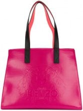 Kenzo - Borsa shopper verniciata - women - Cotton/Nylon/Polyurethane - One Size - PINK & PURPLE