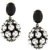 Marni - crystal embellished clip on earrings - women - Glass Fiber/Brass - OS - METALLIC