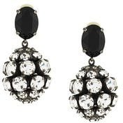 Marni - crystal embellished clip on earrings - women - Glass Fiber/Brass - OS - Metallizzato