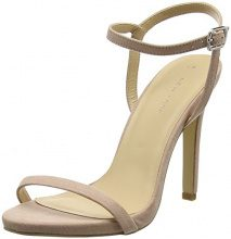 New LookSantorini - Scarpe col Tacco Punta Chiusa Donna, Beige (Beige (Oatmeal)), 39