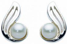 Dew 38319FP010 - Orecchini a lobo da donna con perla, argento sterling 925