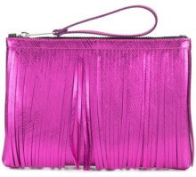 Gum - fringed clutch - women - Polyurethane - OS - PINK & PURPLE