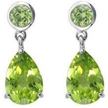 Ivy Gems Donna 9 carati oro bianco Pera verde Peridoto