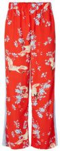 Y.A.S Printed Wide Trousers Women Red