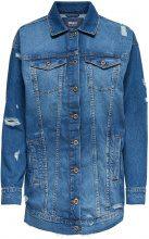 ONLY Long Denim Jacket Women Blue