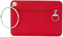 Mm6 Maison Margiela - Borsa Clutch con anelli - women - Calf Leather/Polyester/Polyurethane - OS - RED