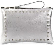 Gum - stud detailed clutch bag - women - PVC - OS - GREY