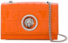 Versus - crocodile embossed Lion clutch - women - Leather - OS - YELLOW & ORANGE