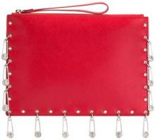Versus - pins embellished clutch - women - Calf Leather - OS - RED