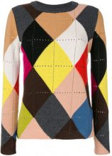 Twin-Set - Maglione a rombi - women - Polyamide/Viscose/Cashmere/Wool - S - MULTICOLOUR