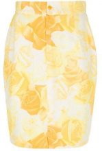Versace Vintage - Gonna a matita - women - Silk - 42 - YELLOW & ORANGE
