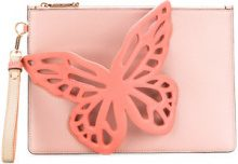 Sophia Webster - butterfly design clutch - women - Calf Leather/Cotone/Polyester - OS - PINK & PURPLE