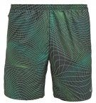 DISTANCE  - Pantaloncini sportivi - black/action green/reflective silver