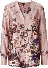 Y.A.S Floral Satin Shirt Women Pink