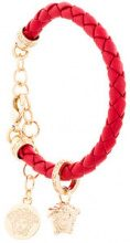Versace - Bracciale con ciondoli - women - Calf Leather - OS - RED