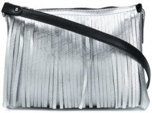 Gum - fringed shoulder bag - women - Polyurethane - OS - METALLIC