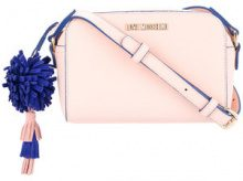 Love Moschino - pompom-detail crossbody bag - women - Polyurethane - One Size - PINK & PURPLE