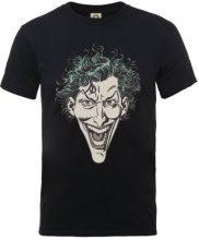 DC Comics DC0001471 DC Comics Official The Joker Head-T-shirt  Uomo    nero X-Large