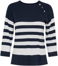 ONLY Striped Knitted Pullover Women Blue