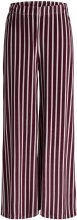 PIECES Wide Striped Trousers Women Red
