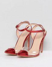 Public Desire - Throb - Décolleté rosse con particolare trasparente e cuore - Rosso
