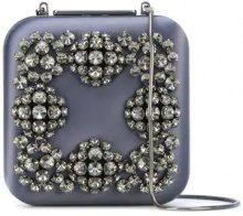 Manolo Blahnik - Hangi clutch bag - women - Silk Satin - One Size - GREY